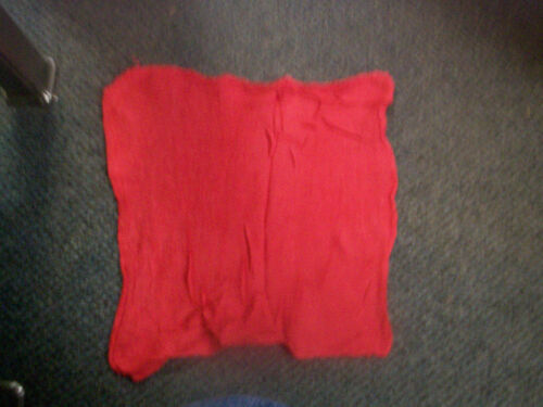 10 Pack Red Industrial Grade Cotton Shop Rags// Cloth Towels