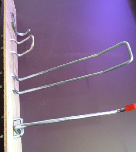 Pegboard Hook Variety Pack of 20 For 18mm Hole centres 152mm length