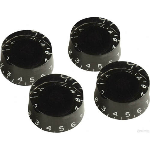 "Black Speed Knobs for Gibson Les Paul Guitar ES SG USA or 1//4/"" pots NEW"