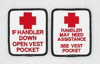1 Handler Assistance Service Dog Patch 2.5x3 Danny & Luanns Embroidery Support