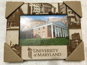 University Of Maryland Umd Engraved Picture Frame 3 5x5 5 Wood Student Ebay