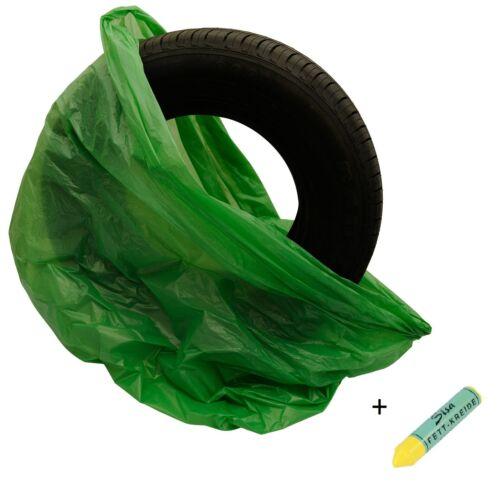 10x XXL reifensäcke LDPE 30µ neumáticos bolsas neumáticos bolsillos Bolsa de neumáticos 100x100x52cm