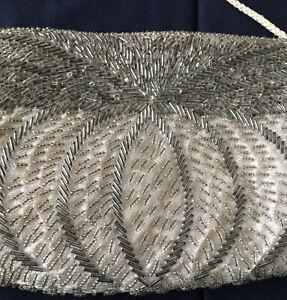 Gallery Original Vintage Heavily Beaded Handbag Cosmetic Evening Purse Bag 1984
