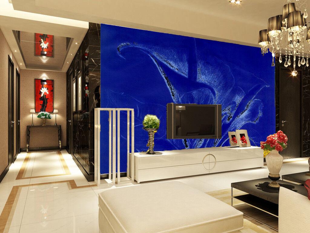 3D Blumen Blauer Hintergrund 7 Tapete Wandgemälde Tapete Tapeten Bild Familie DE