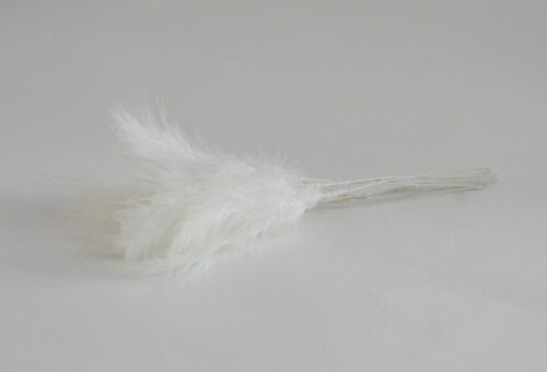20  COLOURS WEDDING BOUQUET FLORAL DECOR BUNCH OF 6 WIRED FLUFF FEATHERS