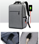 miniature 2 - New Men Canvas School Backpack Casual Notebook Travel Laptop Bag BL