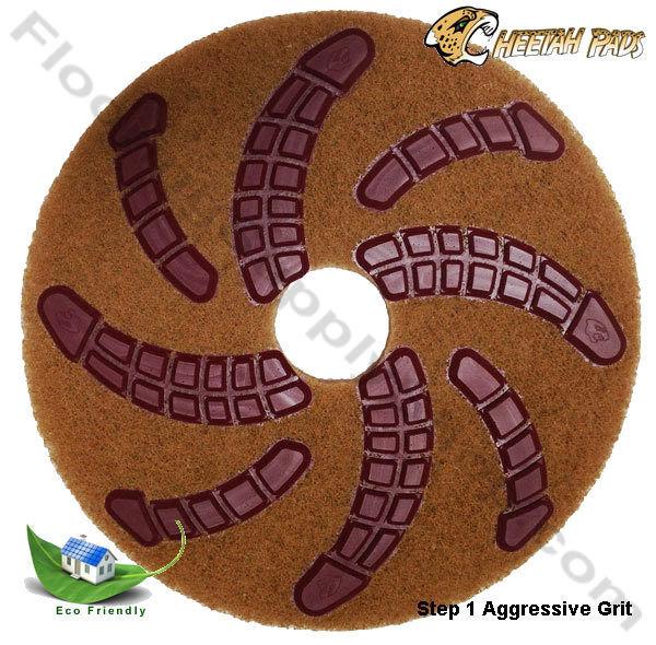 Eco Friendly 20 Inch Stone Polishing Pad Cheetah Single Pads Made in the USA