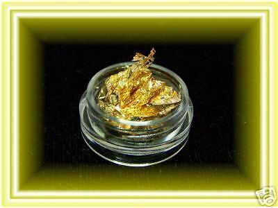 1Döschen Nail Art Folie in Gold sehr dünn wie Blattgold