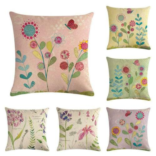 Outdoor Floral Leaf Cushion Garden Waterproof Pillow Throw Case Covers Decors S3
