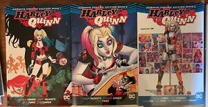 Harley Quinn DC Comics Deluxe Rebirth Hardcover Books 1-3