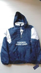 New-Toronto-Maple-Leafs-Embroidered-Authentic-Starter-Jacket-size-Medium-hood