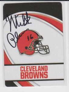 MILT PLUM CLEVELAND BROWNS 1957-61 PENN STATE AUTOGRAPHED PLAYING CARD