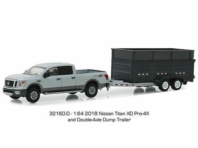 1//64 Greenlight 2018 Nissan Titan XD Pro-4X and Aerovault MKII Trailer 32170D