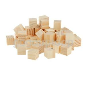 50pcs 2cm blank natural wooden blocks wood cube craft for Wooden blocks craft supplies
