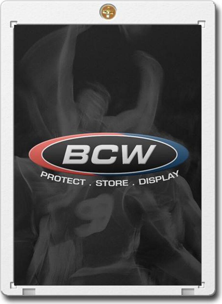 (100) bcw  fick auf trading card inhaber 20pt polystyrol ccg frame angezeigt