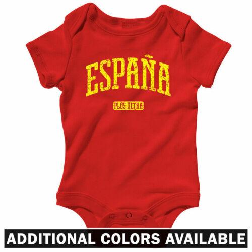 Espana Spain One Piece FCB Barcelona Madrid Baby Infant Creeper Romper NB-24M