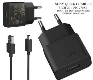 Genuine sony mains wall charger UCH20