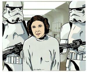 Kevin Graham Original 11x14 Star Wars Artwork Cel signed w/ Laser Background
