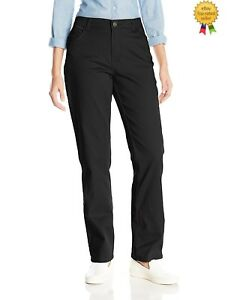 1403f5ca LEE Womens Relaxed Fit Straight Leg Classic Jeans Black size 8 18 ...