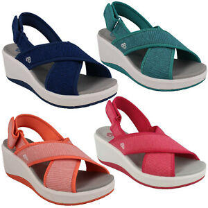 5a1447567730 Image is loading LADIES-CLARKS-STEP-CALI-COVE-CLOUDSTEPPERS -RIPTAPE-SLINGBACK-