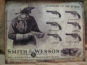 PROTECT YOURSELF WITH A SMITH /& WESSON REVOLVER SIGN Rustic Gun Show Decor NEW