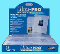 Asmodée Ultra Pro UP81442 Silver Series Display (9 Pocket Pages) - 74427814427 Toys