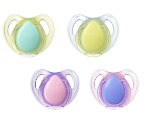 Tommee Tippee Cherry Natural Latex 2 Pack Baby Soother Dummy 0-6 Mths BPA Free