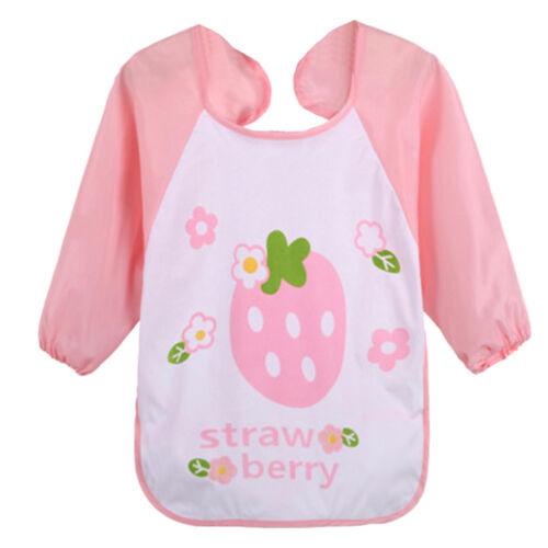 Baby Cartoon Animals Bib Long Sleeve Towel Waterproof Infant Clothes Boy/&Girl