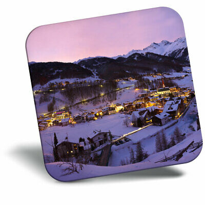 Snowboarding Skiing Gift #12353 Tignes Ski Resort France Classic Fridge Magnet