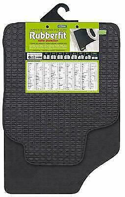 Coppia tappeti anteriori GOMMA RUBBERFIT universali Cora FIT2 FIT 2  134002