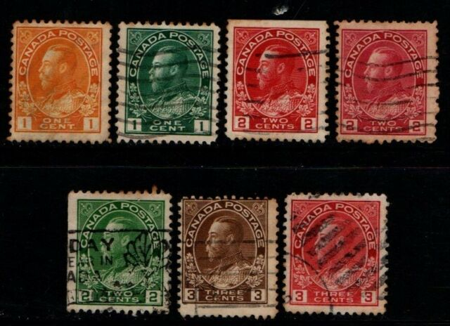 Canada 1912 1931 King George V selection to 3c unsorted SG196 on Used