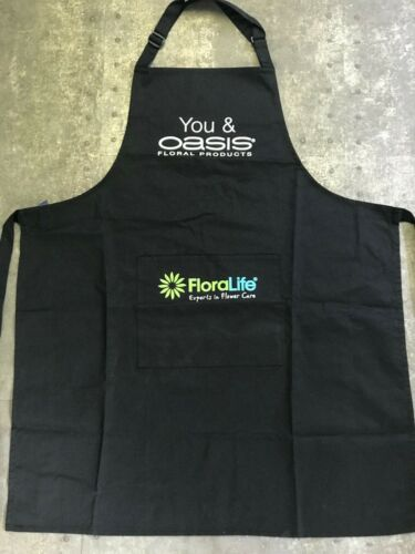 Florists Protective Apron Dark Colour Hard Wearing with Oasis and Floralife Logo