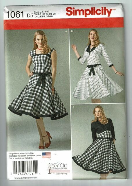 Misses Dress And Lined Jacket Sewing Patterns Simplicity 1061 D5