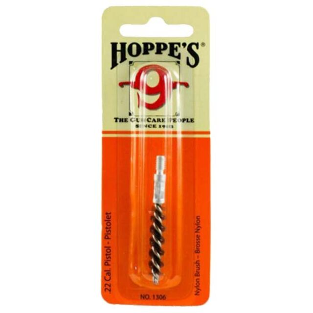 HOPPE'S 9 -  NYLON .22 CAL PISTOL BORE CLEANING BRUSH  | 1306 | SHOOTING