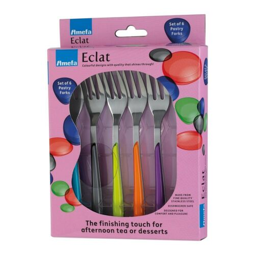 Stainless Steel M... Amefa Eclat Accessories Primary Kaleidoscope Pastry Forks