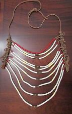 Antique Northern Plains Multi Strand Warrior Necklace   spectacular collectible!