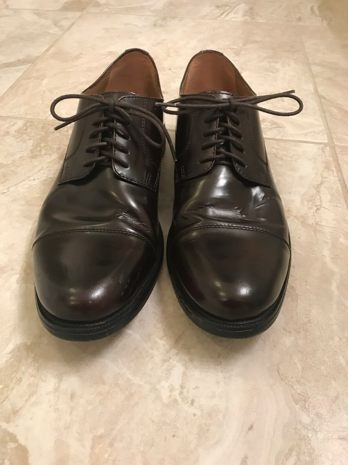 Bostonian Mens shoes Calhoun Limit Burgundy Leather cushioned Support 26102726