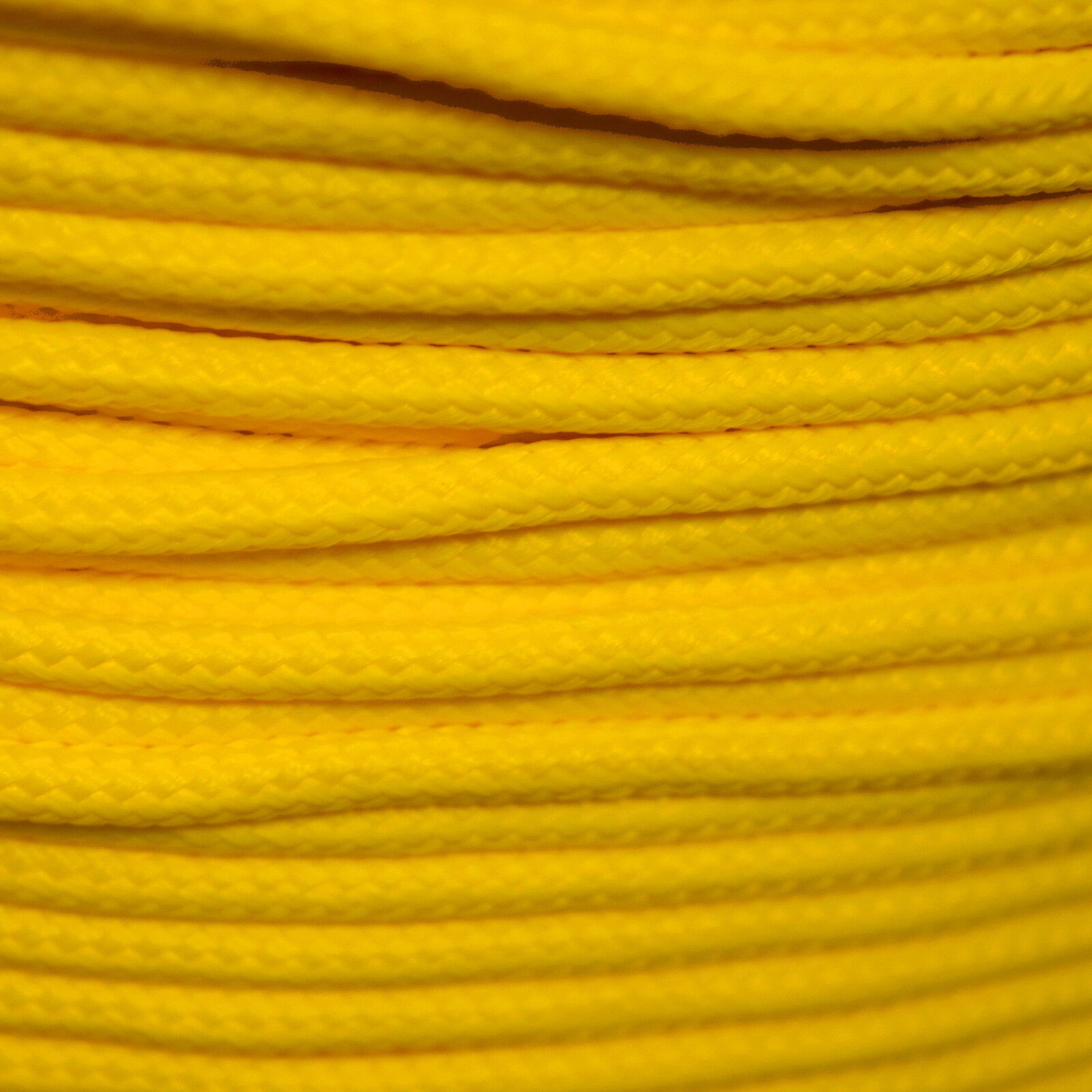 Polypropylene Rope Braided Cord Woven Twine Boating Camping Climbing - Yellow