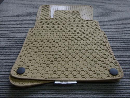 Fußmatten BEIGE $ Lengenfelder Gummimatten passend für Audi A4 Cabrio B6 8H