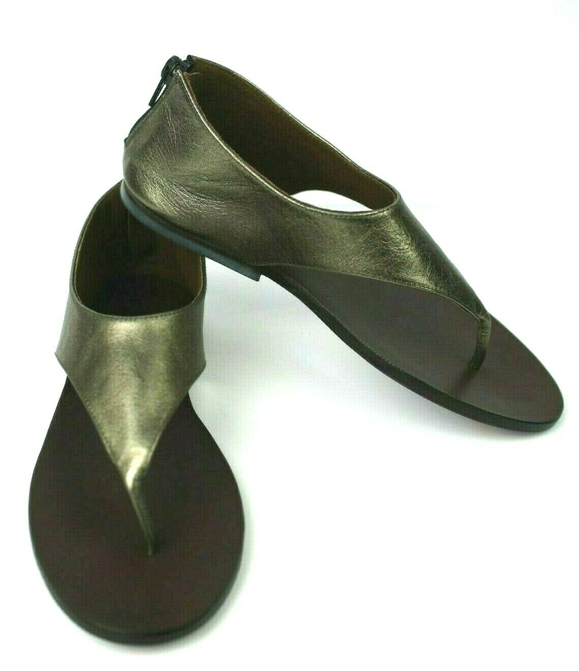 NEW  ISHVARA Sz 36 EU, Bronze Metallic Rioja Sandal, Back zip, ALL leather