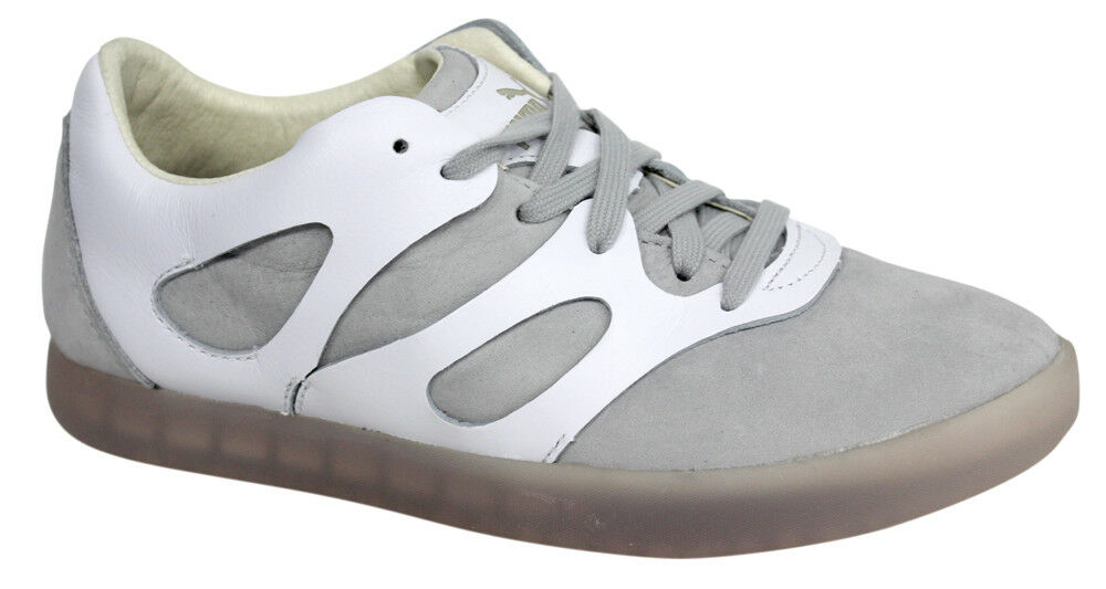 Puma AMQ Climb Lo blanc Lace Up femmes Trainers 357168 01 U69