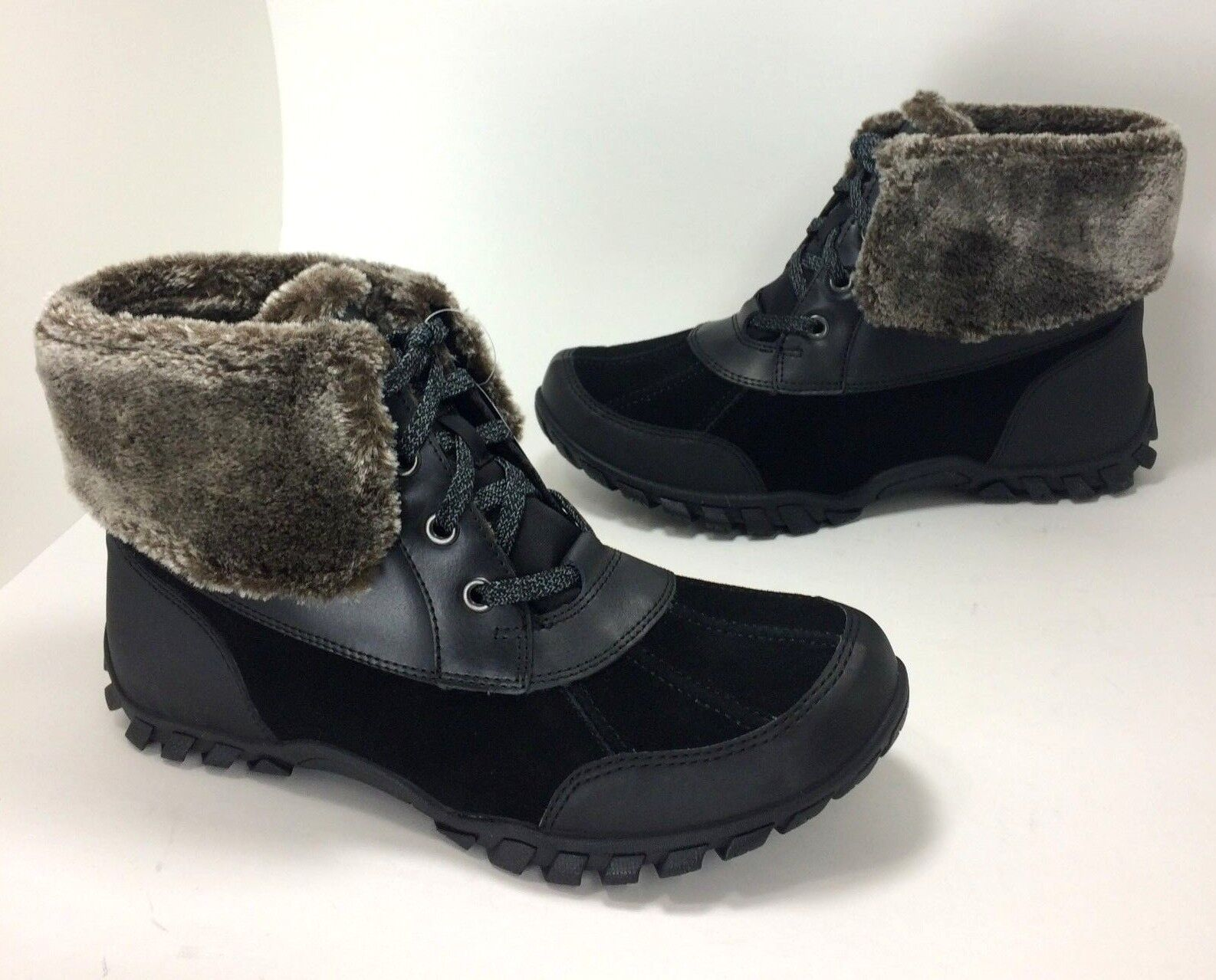 acquista marca New  120 Easy Easy Easy Spirit Nuria Dimensione 10 nero Winter stivali Genuine Suede & Faux Fur  vendita calda online