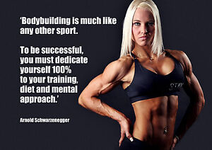 Image Is Loading Bodybuilding 17 Photo Fitness Woman Picture Motivational  Quote