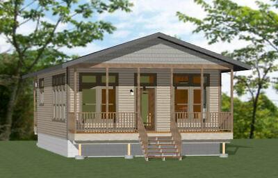 24x36 House 2 Bedroom 1 Bath 864 sq ftFloor Plan Model 3