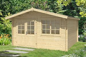 34 mm gartenhaus 400x400 cm ger tehaus holzhaus holz for Fenster 400x400