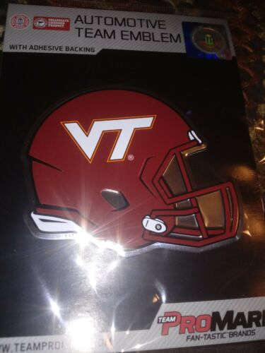 Virginia Tech Hokies Die-Cut Metal Helmet Auto Emblem Decal Sticker