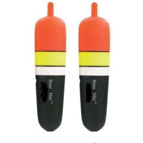 Pkg Of 2 Beau-Mac 3//8 Oz Inline Slider Drift Floats Bobbers EVA Foam Core NEW