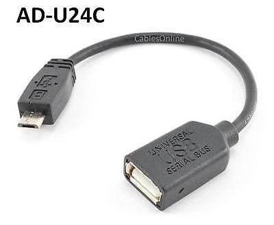 "5/"" USB Micro-B Male to USB Mini-B Female Adapter Cable CablesOnline AD-U27C"