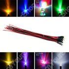 9V 12V 3mm 5mm 8mm 10mm Pre Wired LED Lamp Light Emitting Diode 9Colour 20cm B1