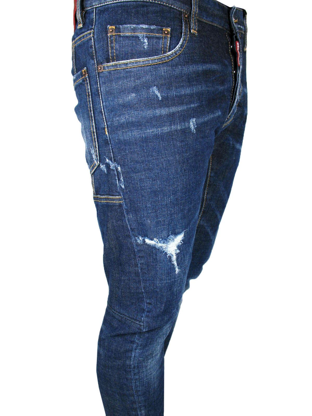 DSQUARED2 DSQUARED2 DSQUARED2 Jeans TIDY BIKER TAGLIA 48,50, 52,54 blu EFFETTO CONSUMATO c7b8ab